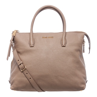 Miu Miu Madras Side Zip Leather Tote