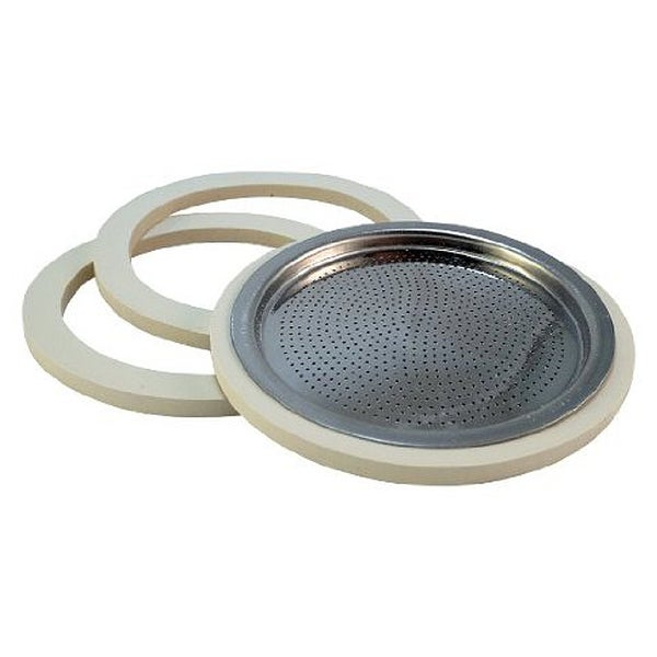 Bialetti Stainless Steel Replacement 4-Cup Gasket and Filter Set