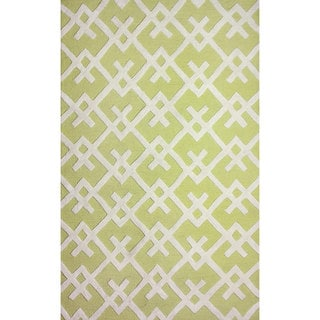 nuLOOM Hand-tufted Modern Indoor/ Outdoor Yellow Rug (5' x 8')