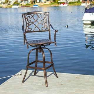 Christopher Knight Home Sahara Shiny Copper Bar Stool (Single)