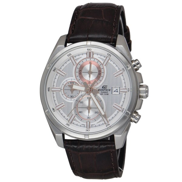 Casio Men's EFR532L-7AV Edifice Silver Chronograph Watch