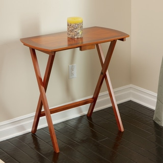 Christopher Knight Home Mcguiness Folding Cherry Wood Tray Table