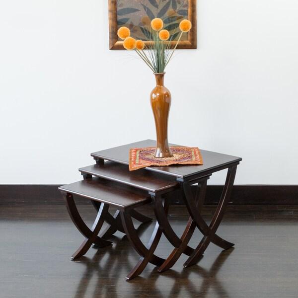 Melody Acacia Wood Nesting Tables (Set of 3)