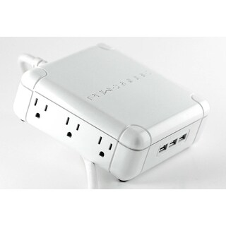 Powerqube 6-outlet 3-USB port Power Strip