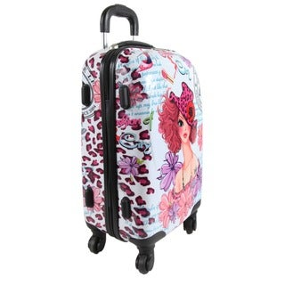 Nicole Lee Sunny White 21-inch Carry-on Hardside Spinner Upright