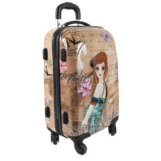 Nicole Lee Tina Kiswa 21-inch Carry-on Hardside Spinner Upright