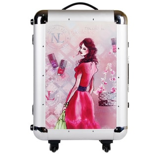 Nicole Lee Priscilla Girl with Red Dress Aluminum 21-inch Hardside Carry-On Spinner Upright