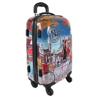 Nicole Lee Bicycle Kiswa 21-inch Carry-on Hardside Spinner