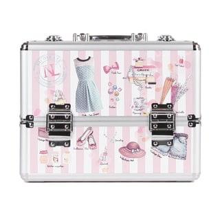 Nicole Lee Doll House Priscilla Aluminum Travel Cosmetic Case
