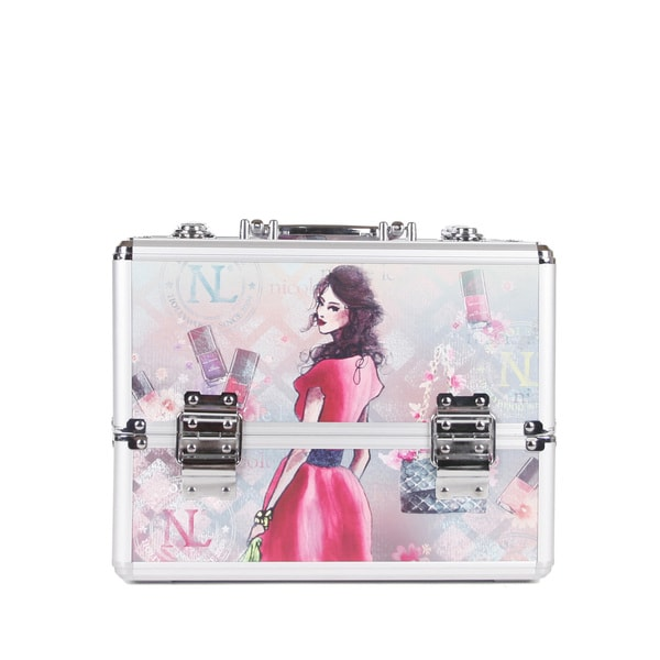 Nicole Lee Daisy Priscilla Aluminium Travel Cosmetic Case