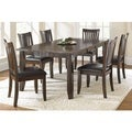 Jacey Warm Brown Oak Dining Set