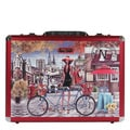 Nicole Lee Bicycle Print Priscilla Aluminium Briefcase