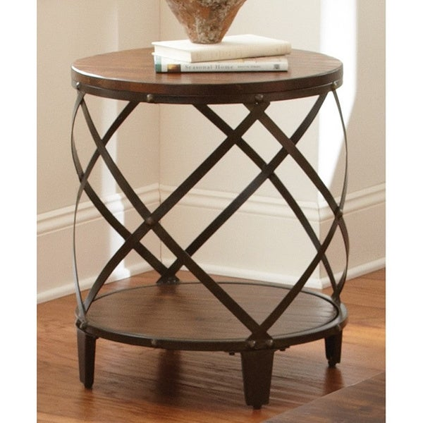 Greyson Living Windham Solid Birch/ Iron Round End Table