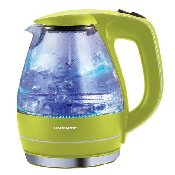 Ovente KG83G Green 1.5-liter Glass Electric Kettle