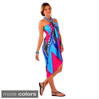 Handmade Women's Chevron-print Tie Dye Sarong (Indonesia)