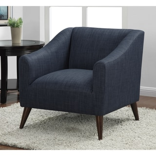 quincy blue linen upholstered arm chair overstock