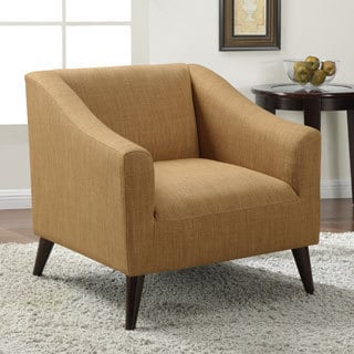 Quincy Gold Linen Upholstered Arm Chair