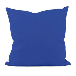 Dazzling Blue Solid Faux-down Decorative Throw Pillow