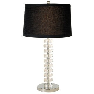 Ruminations 1-light Crystal/ Polished Chrome Table Lamp