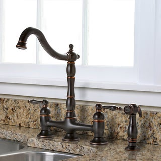 Charelstown Bridge-style 2-handle Parisian Bronze Kitchen Faucet