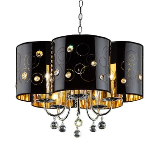 Starry Night 3-light Chrome/ Black Ceiling Lamp