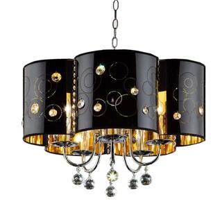 Starry Night 3-light Chrome/ Black Ceiling Lamp