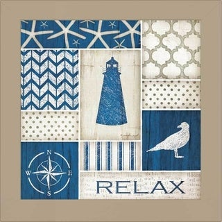 Jennifer Pugh 'Coastal Relax' Framed Wall Art