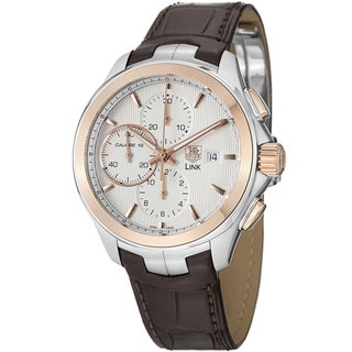 Tag Heuer Men's CAT2050.FC6322 'Link' White Dial Two Tone Chronograph Watch