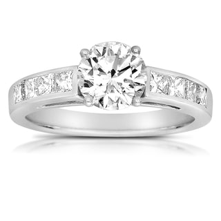 18k White Gold 1 7/8ct Solitaire Diamond Engagement Ring (G-I, VS2)