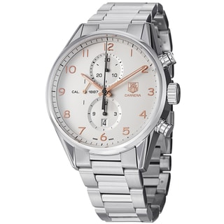 Tag Heuer Men's CAR2012.BA0799 'Carrera' Silver Dial Stainless Steel Automatic Watch