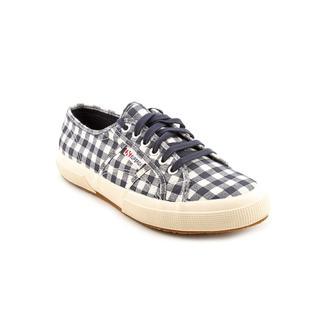 Superga Women's 'Stripes And Checks' Canvas Athletic Shoe