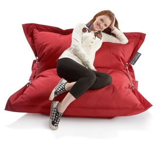 Strapping Big Hug Eco Friendly Red Bean Bag Chair