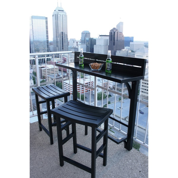 Miyu furniture 3 piece balcony bar 16062046 overstock for Balcony bar restaurant