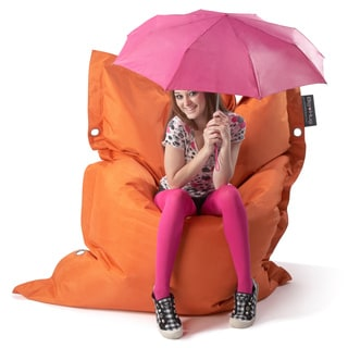 Strapping Big Hug Eco-friendly Tangerine Orange Bean Bag Chair