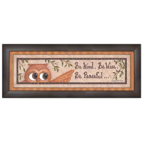 Mary June 'Wise Owl' Framed Wall Art