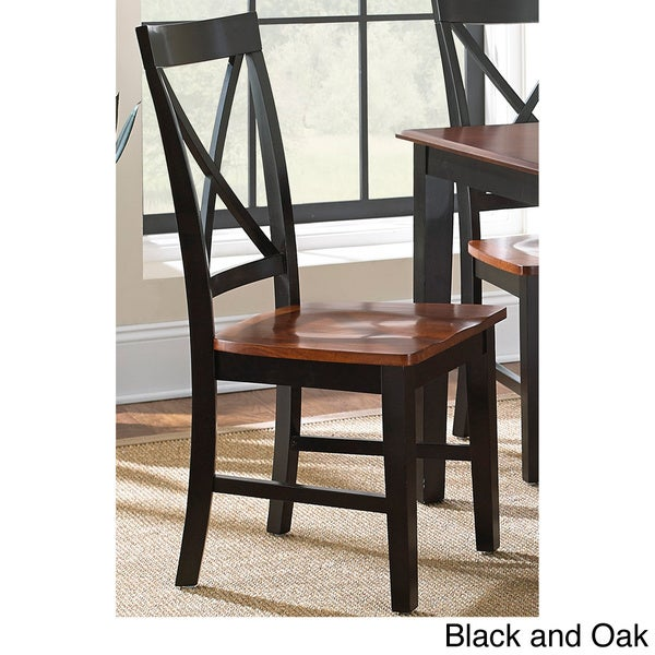 keaton black and oak dining chair set of 2 keaton solid wood dining