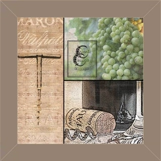 Lisa Wolk 'Wine 3 Patch' Framed Wall Art