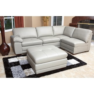Abbyson Living Patrick 5-piece Modular Italian Leather Sectional
