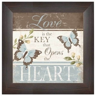 Kathy Middlebrook 'Love...Opens The Heart' Framed Wall Art