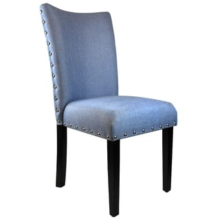 Arbonni Modern Parson Blue Upholstery Chairs (Set of 2)