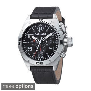 Ballast Men's 'Amphion' Chronograph Leather Strap Watch