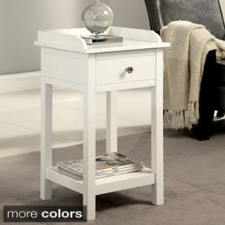 Furniture of America Viola Country Style Accent Side Table with Storage Drawer