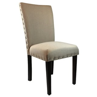 Arbonni Modern Parson Khaki Upholstery Chairs (Set of 2)