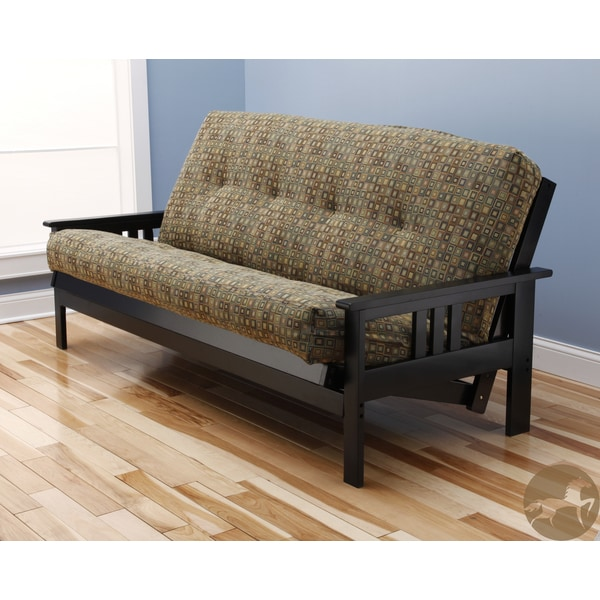 Christopher Knight Home Multi-Flex Espresso Black Futon Frame with Innerspring Mattress