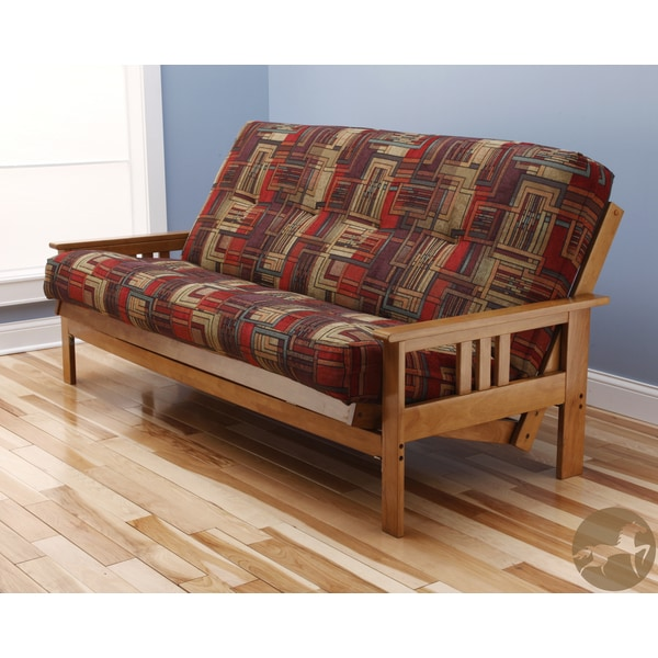 Christopher Knight Home Multi-Flex Brown Wood Futon Frame with Innerspring Mattress