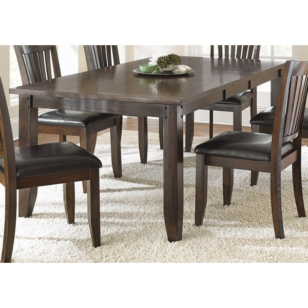 Greyson Living Jacey 78 Inch Warm Brown Oak Finish Dining Table