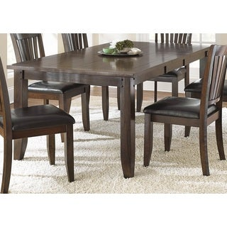 Jacey 78-inch Warm Brown Oak Finish Dining Table