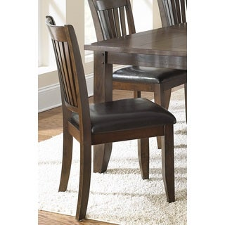 Jacey Warm Brown Oak Finish Side Chairs (Set of 2)