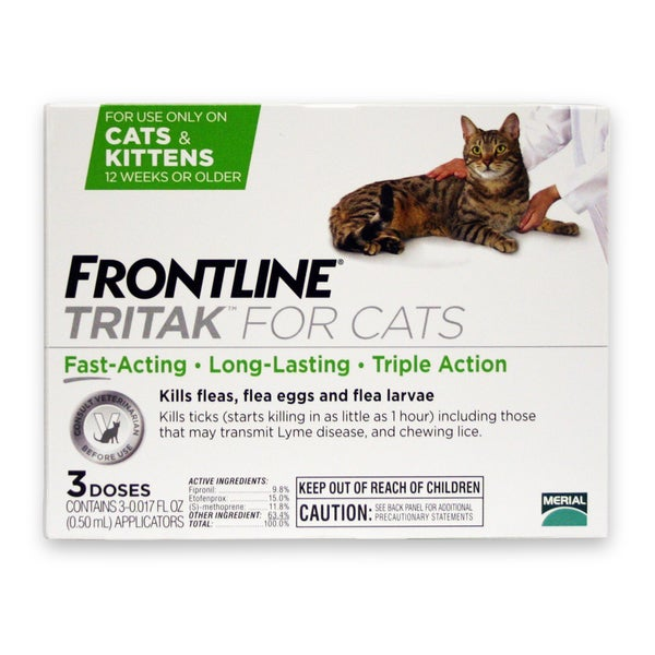 Frontline Tritak Flea/ Tick Treatment for Cats (3 Doses)