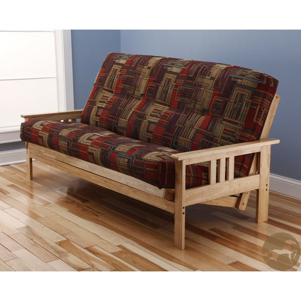 Christopher Knight Home Multi-Flex Natural Wood Futon Frame with Innerspring Mattress